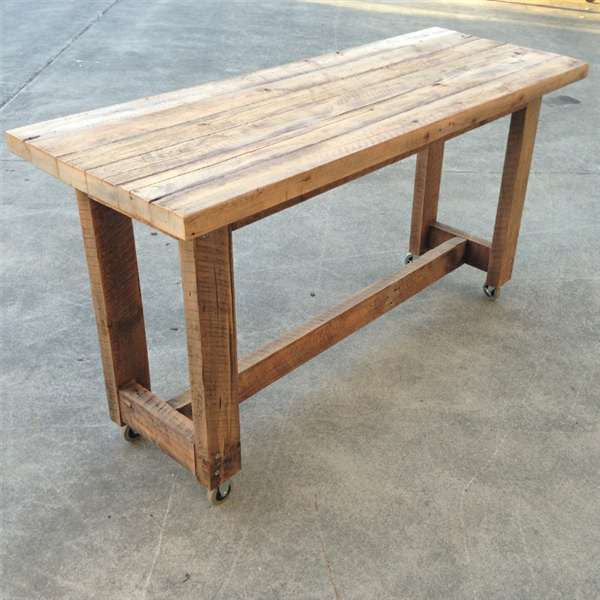 High Kitchen Island Bench In Natural Custom Made Table W