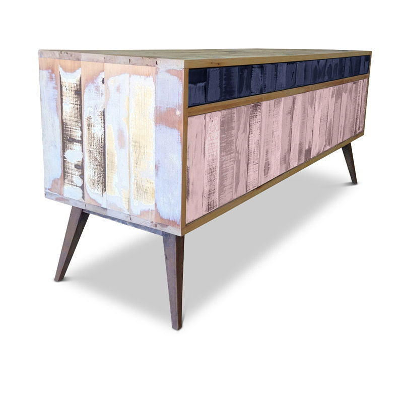 sideboard buy wood cabinet buffet in navy blue and pink. Black Bedroom Furniture Sets. Home Design Ideas