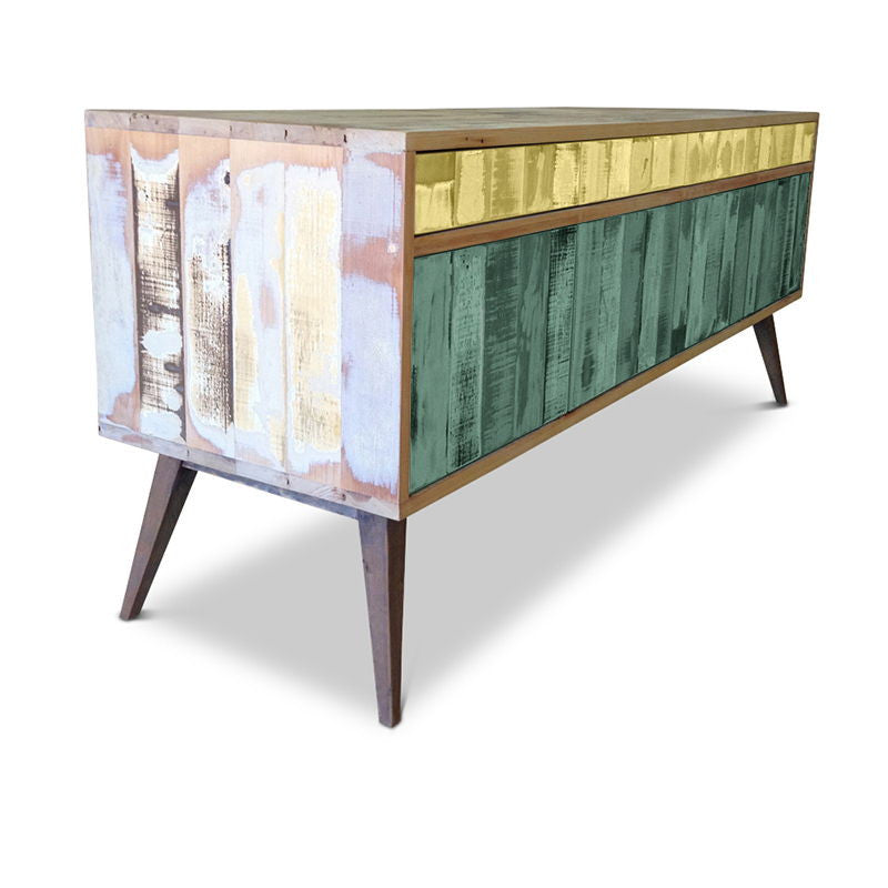 Sideboard Buy Wood Cabinet Buffet In Yellow And Green