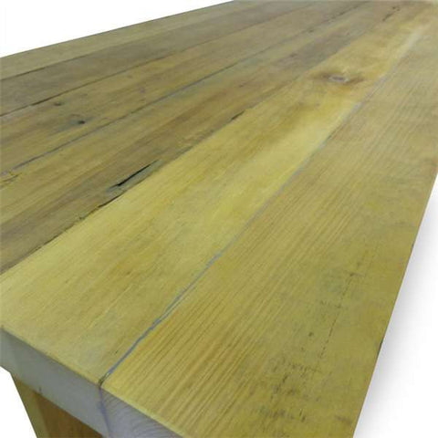 """Once Upon A Queenslander"" Eco Recycled High Bench Table in Natural with Wheels (SUPERSIZED)"