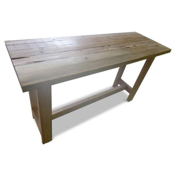 High Kitchen Island Bench Table In Natural With Wheels