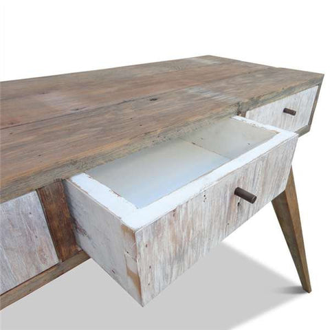 """Once Upon A Queenslander"" Eco Recycled Console / Dressing Table in White"