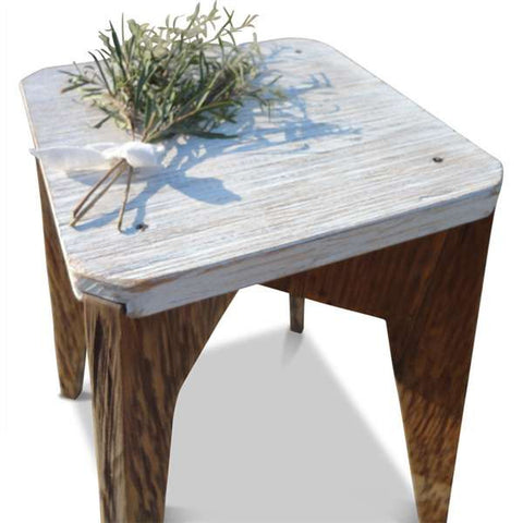 """Once Upon A Queenslander"" Eco Recycled Stool in White"