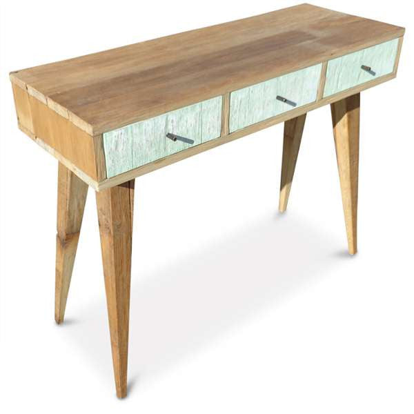 Modern Retro 1960s Wooden Hall Table Console Dressing Table Mint