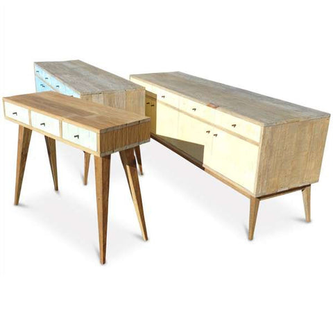 """Once Upon A Queenslander"" Eco Recycled Retro Hall Table / Console / Dressing Table / Desk in Mint"