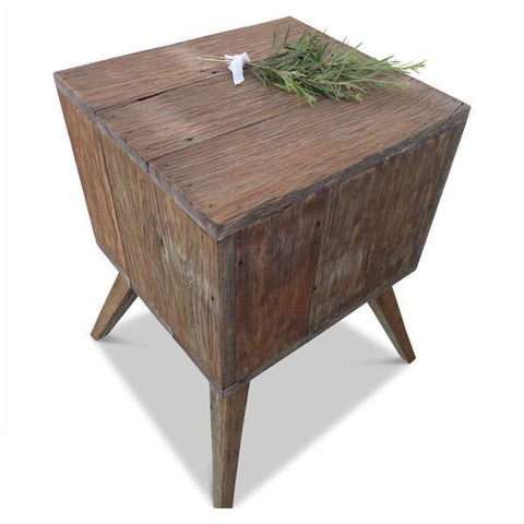 """Once Upon A Queenslander"" Eco Recycled Mint Bedside Table"