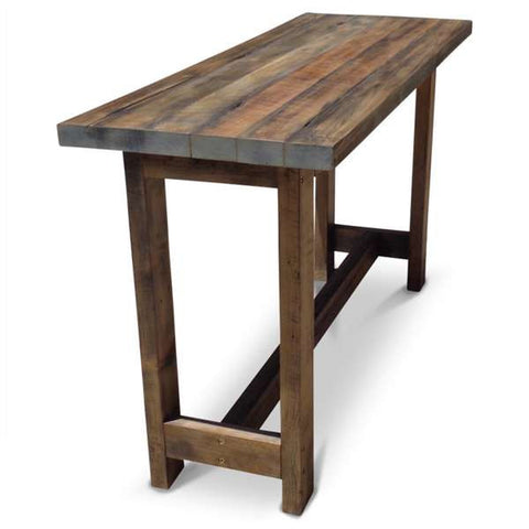 """Once Upon A Queenslander"" Eco Recycled High Bench Table in Dark Walnut"