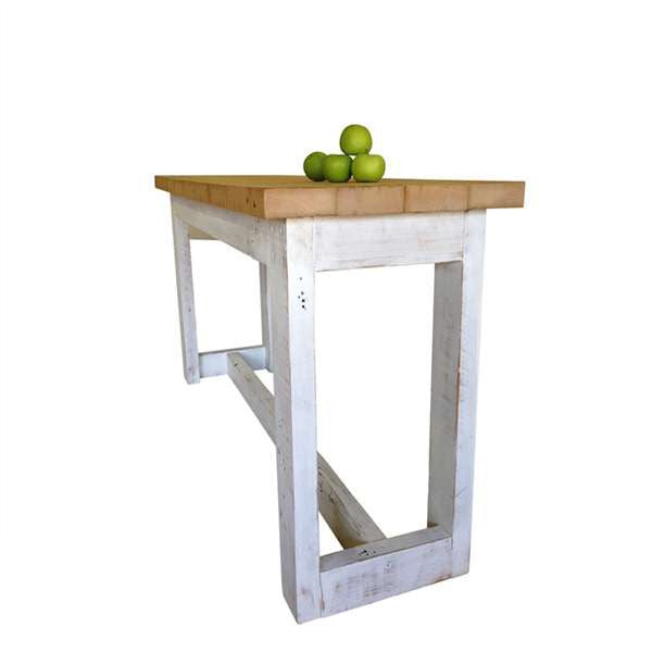 High Kitchen Bench: Handmade Solid Wooden Kitchen Island Desk