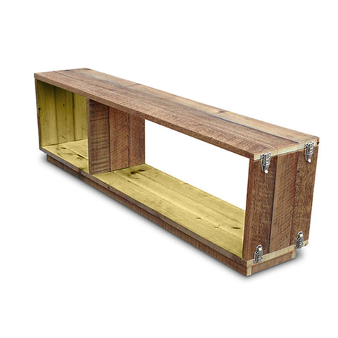 """Once Upon A Queenslander"" Eco Recycled Modular Bookcase / Bench / TV Stand in Lemon Meringue"