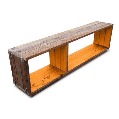 """Once Upon A Queenslander"" Eco Recycled Modular Bookcase / Bench / TV Stand in Orange"
