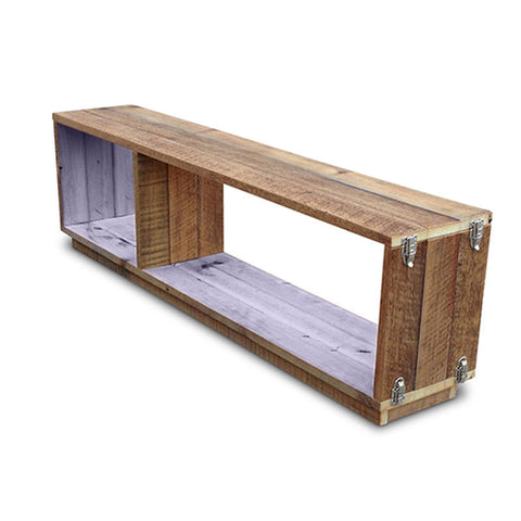 """Once Upon A Queenslander"" Eco Recycled Modular Bookcase / Bench / TV Stand in Pastel Lilac"