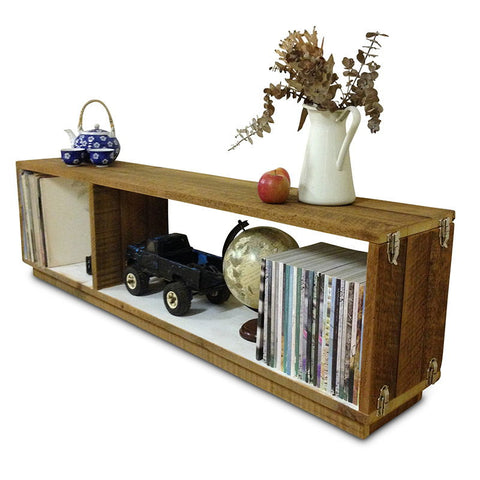 """Once Upon A Queenslander"" Eco Recycled Modular Bookcase / Bench / TV Stand in White"