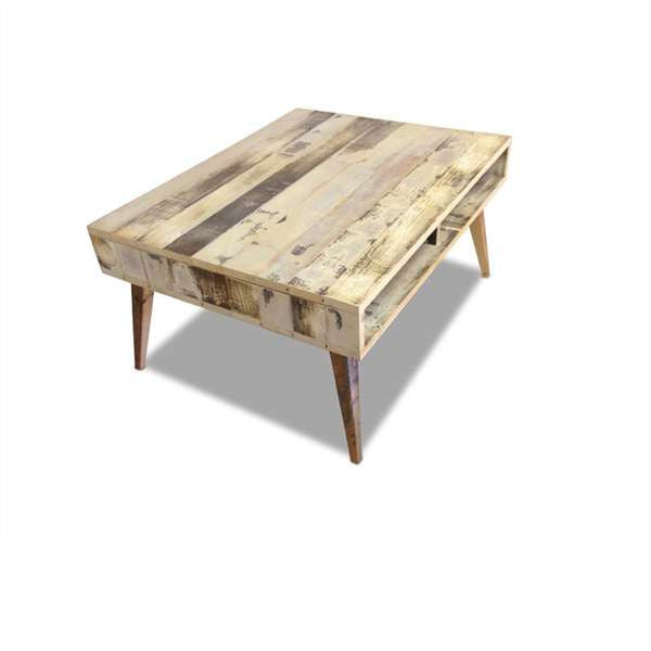 Open Shelf Coffee Table, Eco Recycled Solid Timber, Onlin