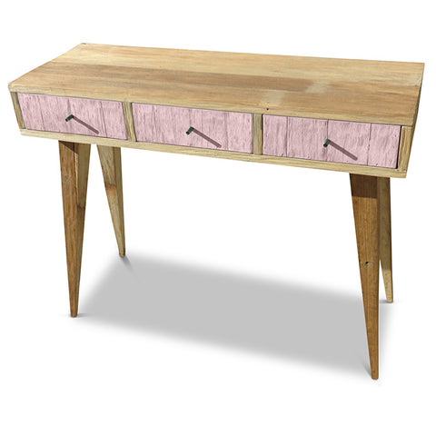 """Once Upon A Queenslander"" Eco Recycled Retro Hall Table / Console / Dressing Table / Desk in Blush Pink"