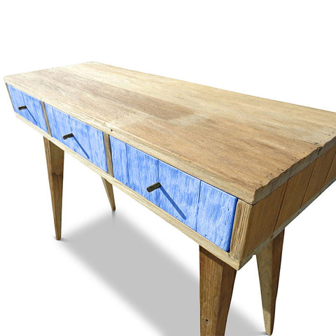 """Once Upon A Queenslander"" Eco Recycled Retro Hall Table / Console / Dressing Table / Desk in Navy Blue"