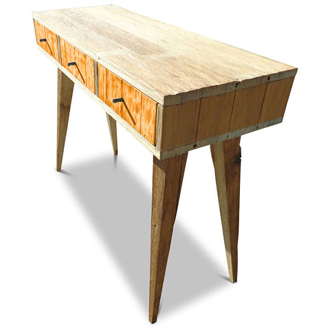 Retro Modern Mid Century Eco Recycled Retro Hall Table / Console / Dressing Table / Desk in Orange