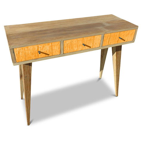 """Once Upon A Queenslander"" Eco Recycled Retro Hall Table / Console / Dressing Table / Desk in Orange"