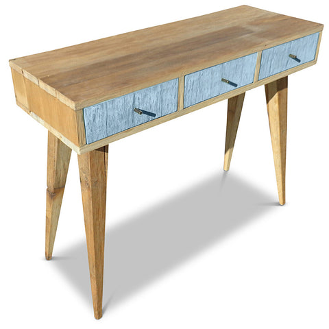 """Once Upon A Queenslander"" Eco Recycled Retro Hall Table / Console / Dressing Table / Desk in Powder Blue"