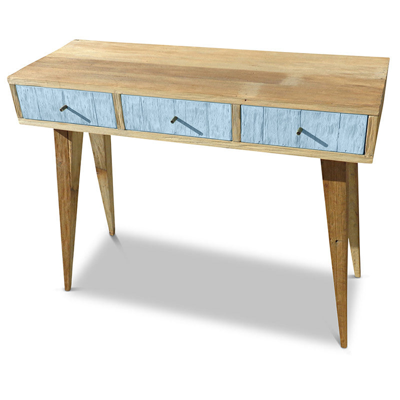Console, Dressing Table, Buy Wooden Desk In Pastel Blue