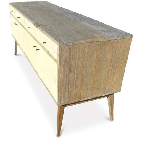 """Once Upon A Queenslander"" Eco Recycled Sideboard / Entertainment Unit in Pastel Yellow"