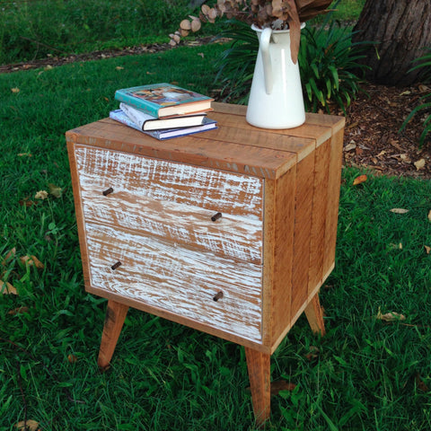 """Once Upon A Queenslander"" Eco Recycled Bedside Table With Drawers"
