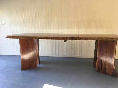 Australian Hardwood Redgum Live Edge Dining Table / Boardroom Table
