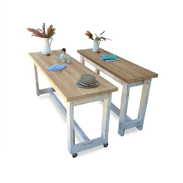 High Bench Table, Buy Kitchen Island In White And Natural