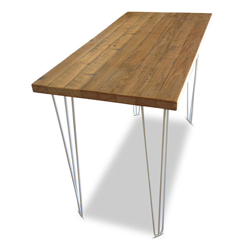 """Once Upon A Queenslander"" Industrial Recycled High Bench Table - White"