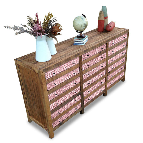 """Once Upon A Queenslander"" Industrial Recycled Shabby Chic Cabinet / Sideboard / Buffet / Dresser in Blush Pink"
