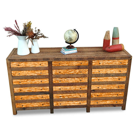 """Once Upon A Queenslander"" Industrial Recycled Shabby Chic Cabinet / Sideboard / Buffet / Dresser in Orange"