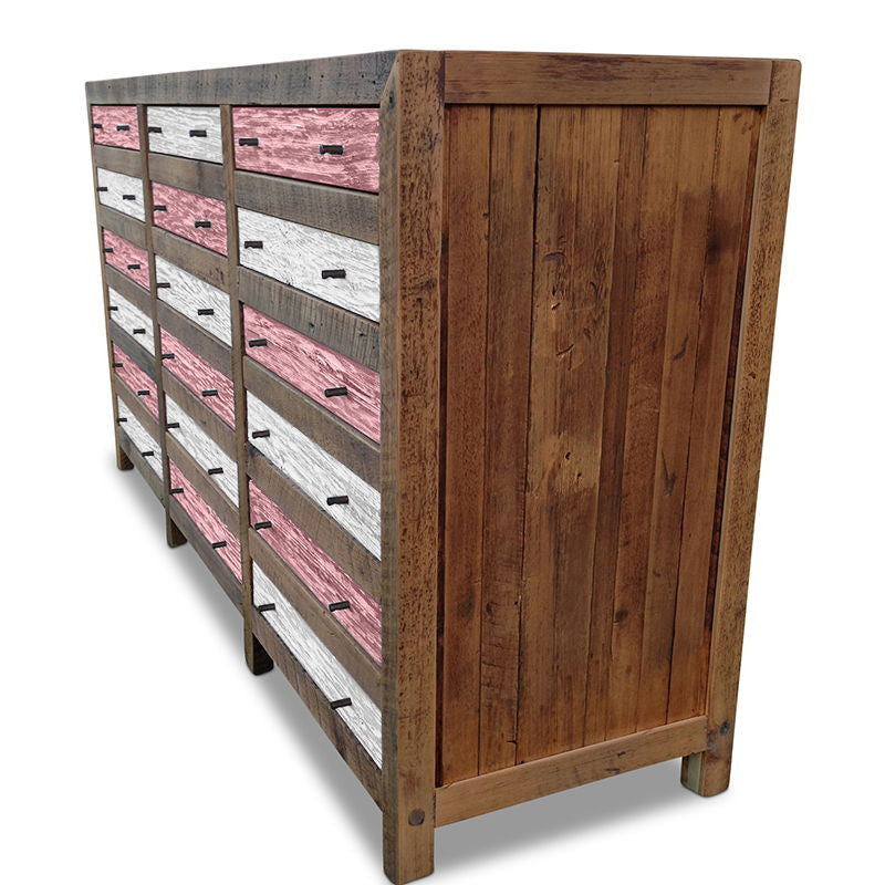 Buffet Table And Dresser, Buy Pink And White Wooden
