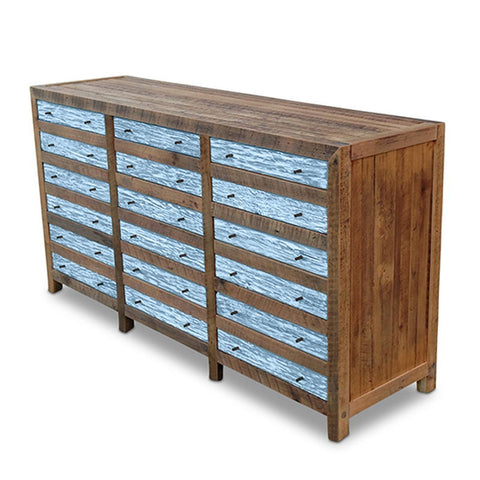 """Once Upon A Queenslander"" Industrial Recycled Shabby Chic Cabinet / Sideboard / Buffet / Dresser in Powder Blue"