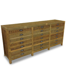 Minimalist Modern Retro Timber Sideboard Buffet Dresser in Recycled Timber - Natural