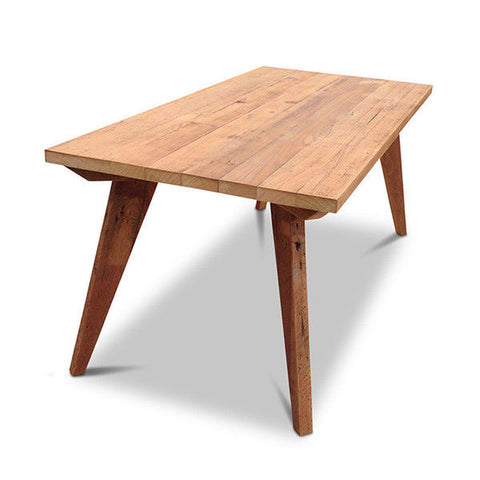 Modern Mid Century Retro Recycled Dining Table in Natural Large (2m)