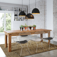 Modern warehouse rustic dining table, boardroom, office table, desk for the home, office or cafe. Recycled Timber. 10 year warranty & customisable to any dimension, colour or finish. Free standard delivery to major capital cities in Australia.