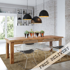 Modern Urban Industrial Recycled Retro Contemporary Metal Dining Suite or Boardroom Furniture