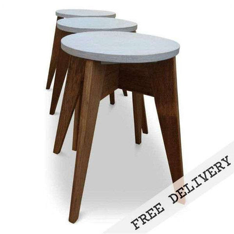 """Once Upon A Queenslander"" Eco Recycled Cafe Style Stool - BLUE EDITION"