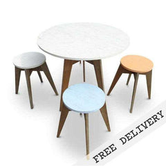 Outdoor Designer Furniture Eco Recycled Cafe Style Round Dining Table