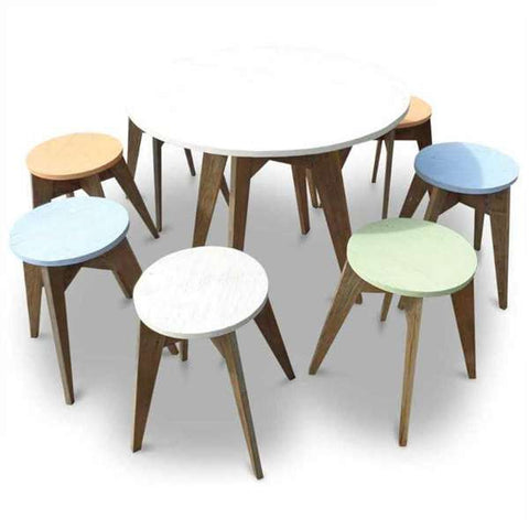 """Once Upon A Queenslander"" Eco Recycled Cafe Style Stool"