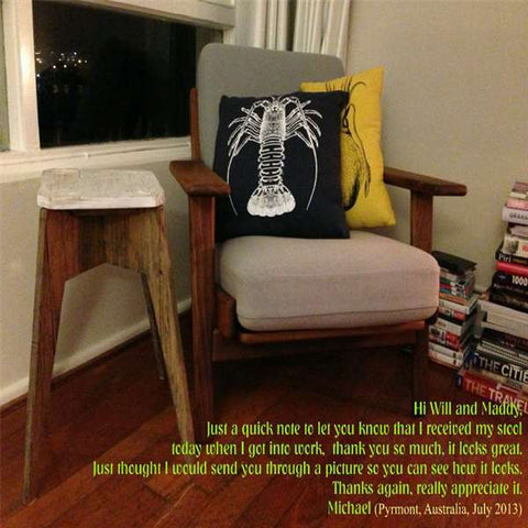 """Once Upon A Queenslander"" Eco Recycled Stool in White Testimonial"