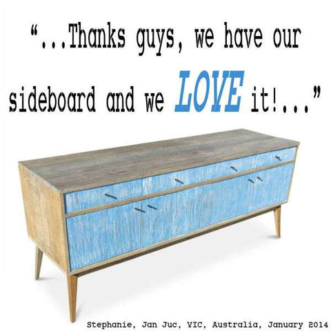 """Once Upon A Queenslander"" Eco Recycled Sideboard / Entertainment Unit in Denim Testimonial"