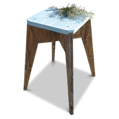 """Once Upon A Queenslander"" Eco Recycled Stool in Powder Blue"