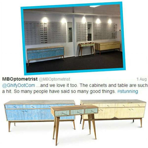 """Once Upon A Queenslander"" Eco Recycled Denim Sideboard / Entertainment Unit Testimonial"