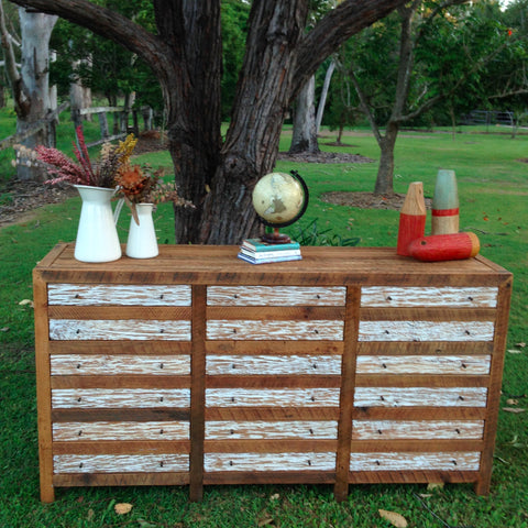Industrial Recycled Shabby Chic Cabinet / Sideboard / Buffet / Dresser