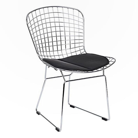 Black Bertoia Replica Metal Chair
