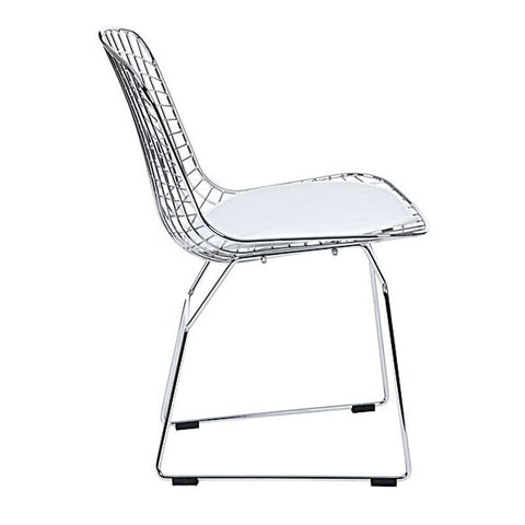 White Bertoia Replica Side Chair