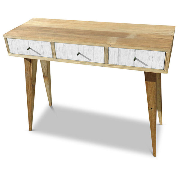Rustic 1960s Retro Wooden Hall Stand Dressing Table Desk In White Free Delivery Ebay