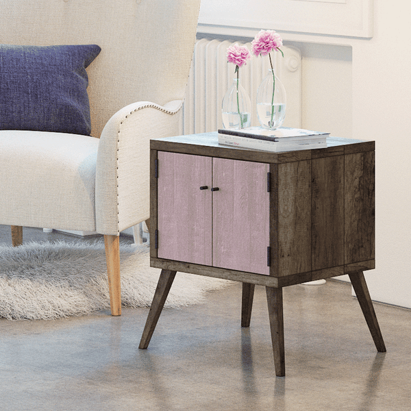 newest 919d7 bd372 Details about Rustic Solid Timber Night Stand Side Lamp Desk Table Storage  Cabinet Blush Pink