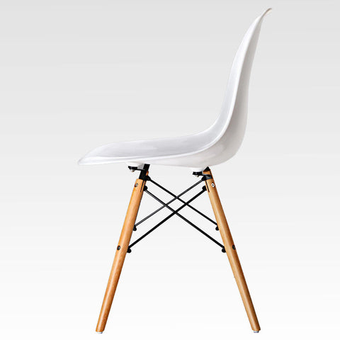 White Eames Replica Dining Chair