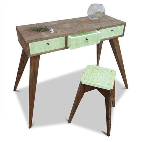 Once Upon A Queenslander Eco Recycled Console / Dressing Table in Mint